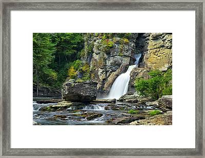 Linville Falls Framed Print by Mark Steven Houser