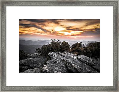 Linville Gorge Sunrise Framed Print