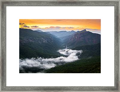 Linville River Of Fog Framed Print