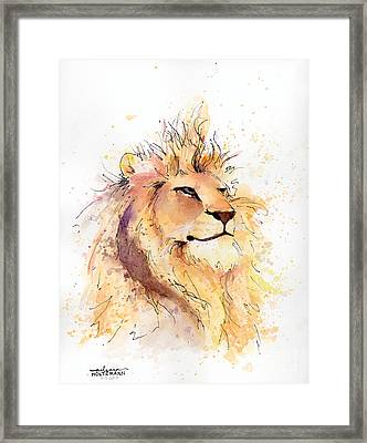 Lion 3 Framed Print by Arleana Holtzmann
