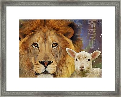 Lion And The Lamb Framed Print