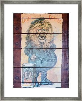 Lion Coffee Framed Print by Susan Ince