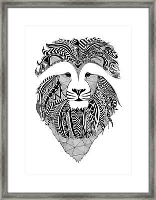 Lion Dark Africa Framed Print