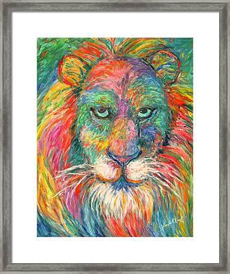 Lion Explosion Framed Print