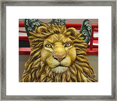 Lion Face Guitar Framed Print