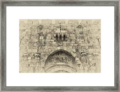 Lion Gate Jerusalem Old City Israel Framed Print