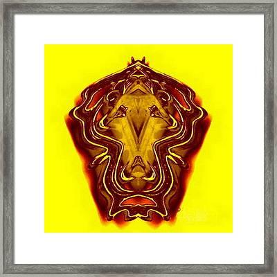 Lion Gear Framed Print