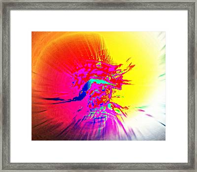 The Lion King Wakes Up Late, In Despair  Framed Print by Hilde Widerberg
