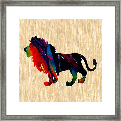 Lion King Of The Jungle Framed Print by Marvin Blaine
