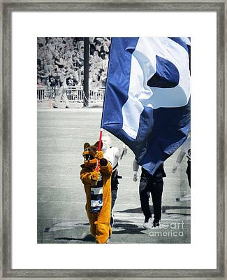Lion Leading The Team Framed Print