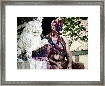 Lion Man Framed Print by Thomas Woolworth