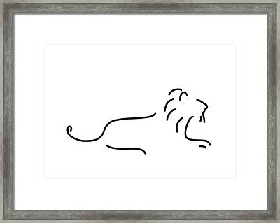 Lion Mane Framed Print by Lineamentum