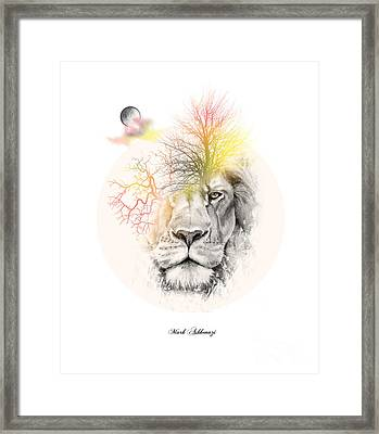 Lion Framed Print by Mark Ashkenazi