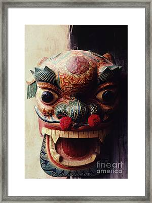 Lion Mask For Chinese New Year Framed Print
