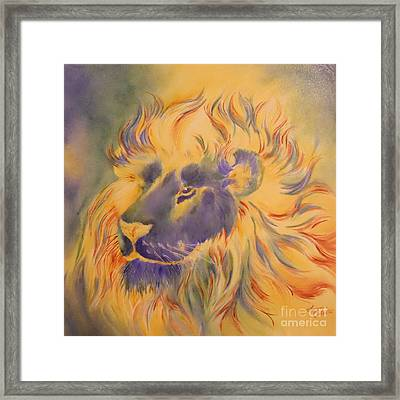 Lion Of Another Color Framed Print