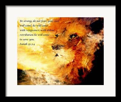 No Weapon Formed Against Me Shall Prosper In Jesus Name Framed Prints