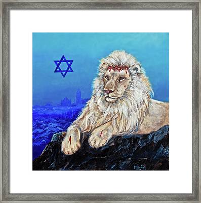 Lion Of Judah - Jerusalem Framed Print