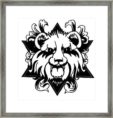 Lion Of Judah Framed Print by Marvin Barham