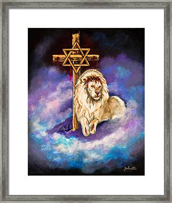 Lion Of Judah Original Painting Forsale Framed Print