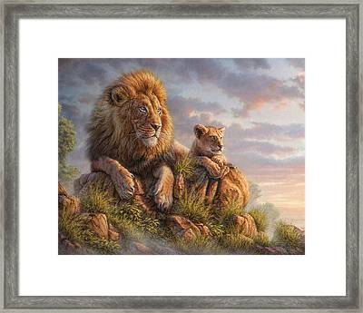 Lion Pride Framed Print