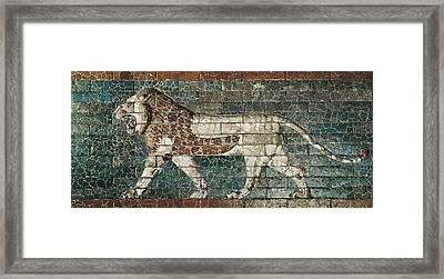 Lion Representing Ishtar, Frieze Framed Print by Everett
