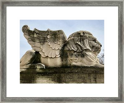 Lion With Wings Framed Print by Patricia Januszkiewicz