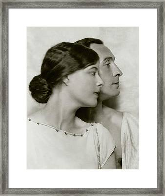 Lionel Atwill And Elsie Mackey Framed Print by Nickolas Muray