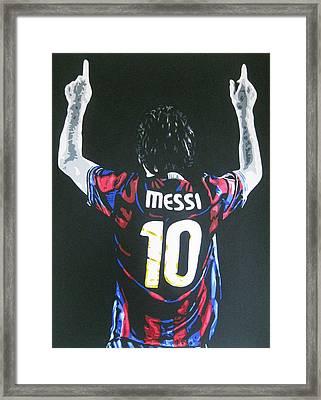 Lionel Messi - Barcelona Fc Framed Print