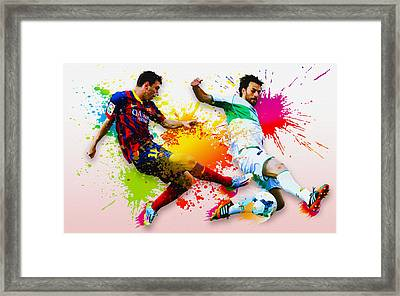 Lionel Messi Of Fc Barcelona Framed Print