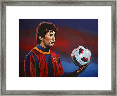 Lionel Messi 2 Framed Print by Paul Meijering