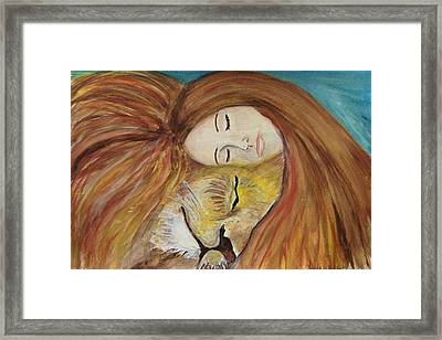 Lioness Heart Framed Print by Linda Waidelich