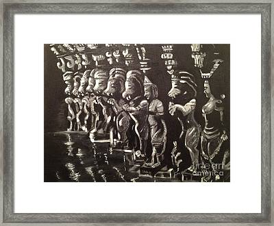 Lionpillars Framed Print by Brindha Naveen