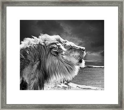 Lions Breath Framed Print
