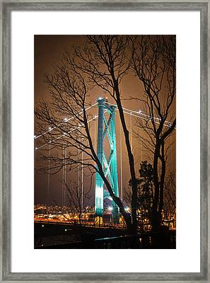 Lions Gate Bridge Framed Print by Jorge Ligason
