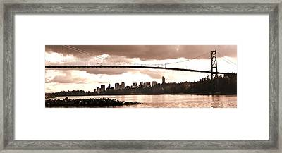 Lions Gate Bridge Panorama Framed Print by Patricia Keith