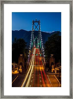 Lion's Gate Bridge Vancouver B.c Canada Framed Print by Pierre Leclerc Photography