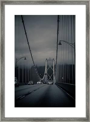 Lions Gate Bridge Vancouver Framed Print by Eti Reid