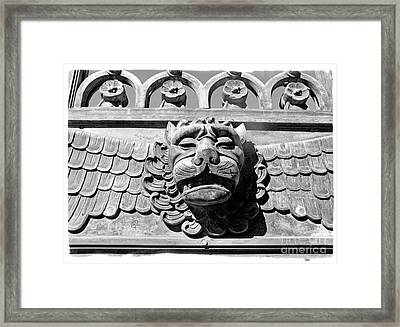 Framed Print featuring the photograph Lions Head by Carsten Reisinger