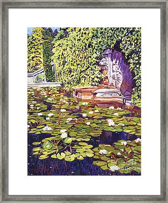Lion's Head Fountain Framed Print by David Lloyd Glover