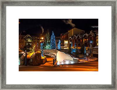 Lions Head Village Vail Colorado Framed Print by Brenda Jacobs