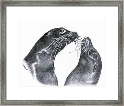 Lions Framed Print by Lucy D