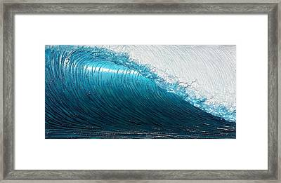 Lip Line Framed Print by Nathan Ledyard