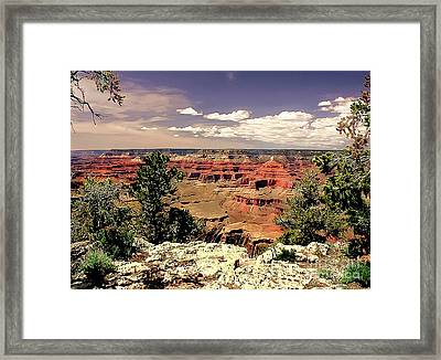 Lipan Point  Grand Canyon Framed Print by Bob and Nadine Johnston