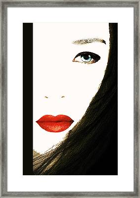 Lips Framed Print by Bruce Iorio