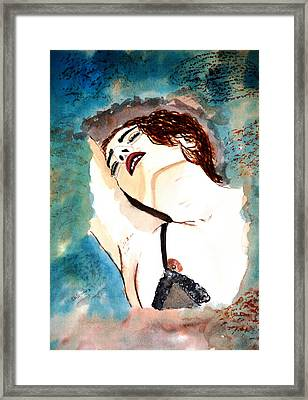 Lips Passion Framed Print