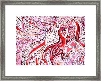 Lipstick Framed Print by Danielle R T Haney