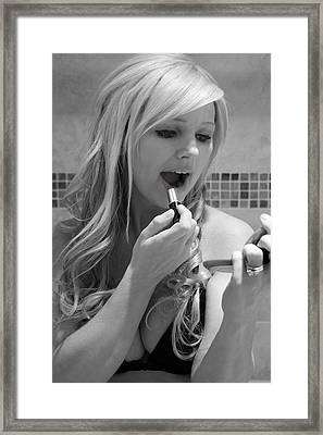 Framed Print featuring the photograph Lipstick by Matthew Ahola