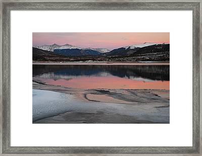 Lipstick Sunset Framed Print