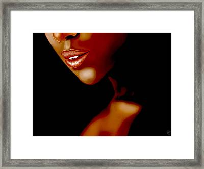 Lipsy Framed Print by Mathieu Lalonde