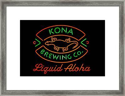 Liquid Aloha Framed Print